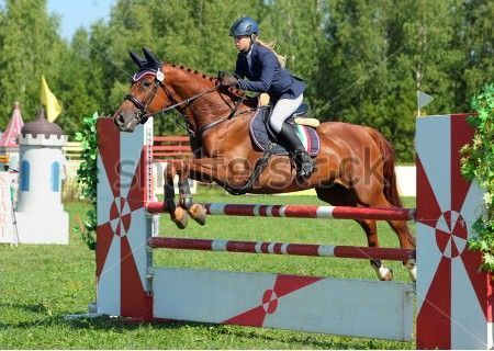 stock-photo-girl-in-equestrian-uniform-on-horseback-jumping-hurdle-247757662